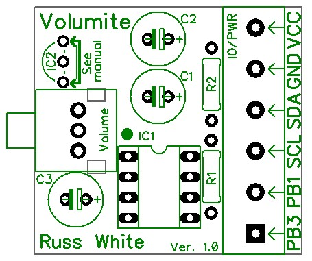 Volumite - A Simple I2C/SPI Volume Control
